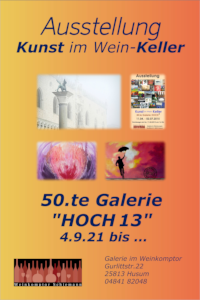 Plakat 50.te Galerie HOCH 13 2021